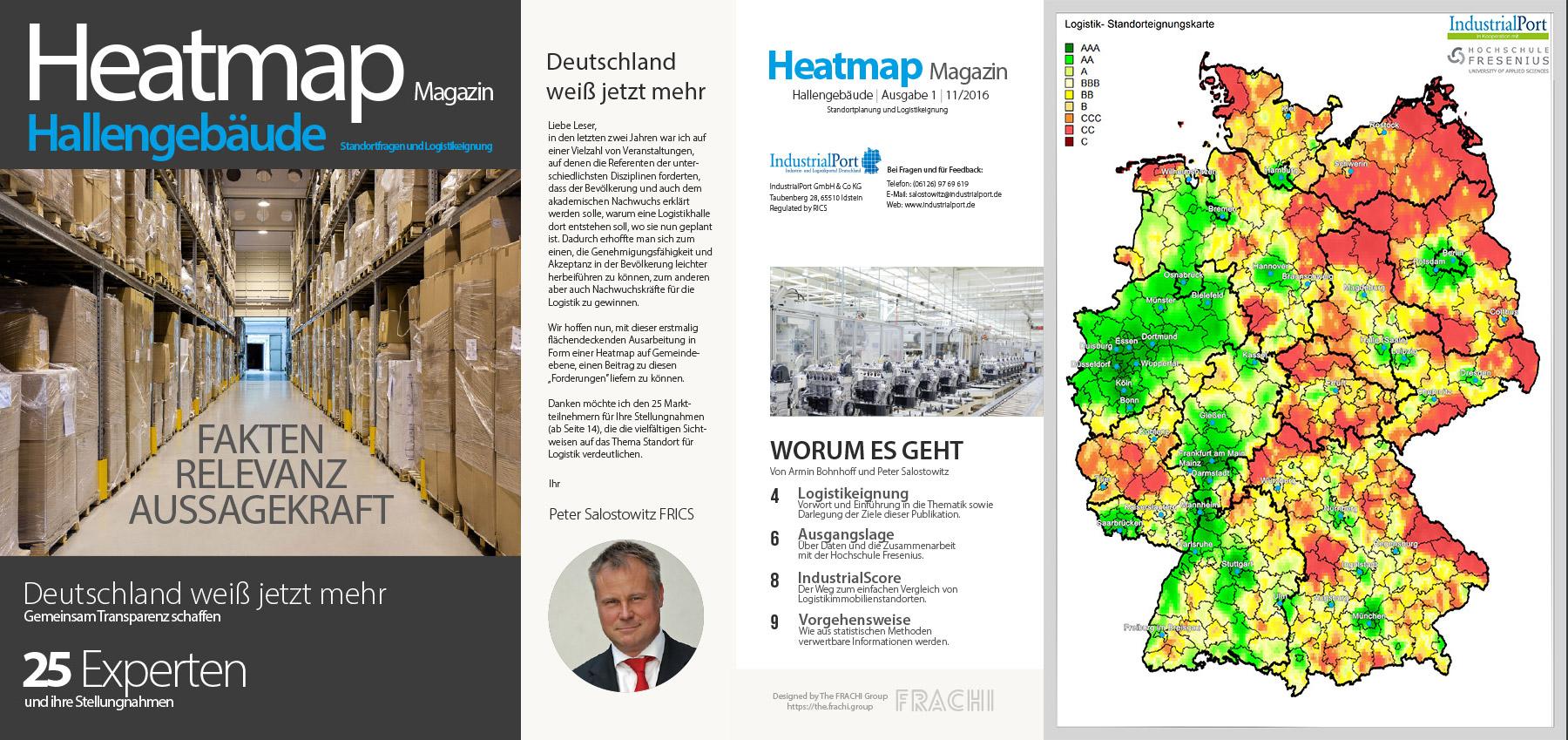 Logistikimmobilien Magazin Heatmap Magazin von IndustrialPort