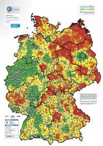 Marktreport Logistikimmobilien - TÜV SÜD ImmoWert und IndustrialPort Karte Heatmap
