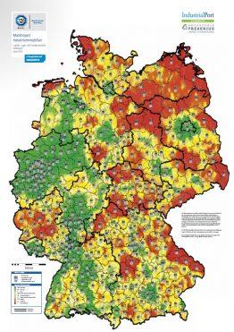 Marktreport Logistikimmobilien 2016 - TÜV SÜD ImmoWert und IndustrialPort Karte Heatmap