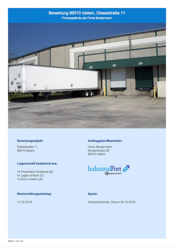 Online-Bewertung von IndustrialPort - IndustrialQuickValuation